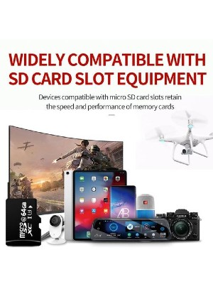 FileKing 64GB Micro SD XC Memory Card. cnw