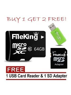 FileKing 64GB Micro SD XC Memory Cardnew