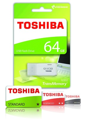 TOSHIBA 64GB (WHITE). anew