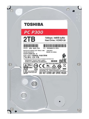 TOSHIBA INTERNAL HDD 2TB. anew